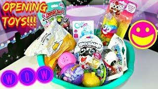 Opening TOYS Pikmi Pops Magical mush Rainbow Poo Squish D-lish Kenetic Sand Toy Unboxing!!B2cutecup