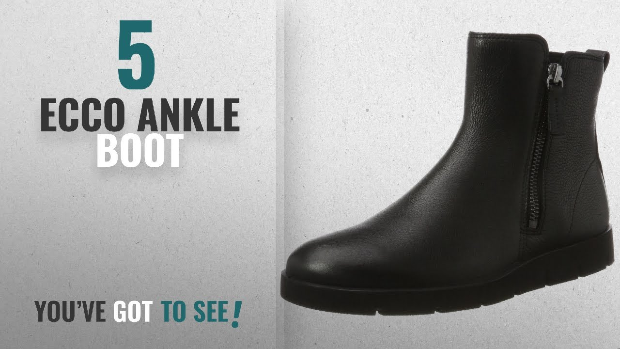 1d85bda5 Top 5 Ecco Ankle Boot [2018]: ECCO Women's Women's Bella Zip Boot Ankle  Bootie, Black, 41