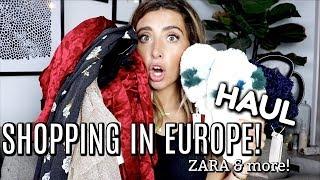 EUROPE SHOPPING HAUL! ZARA & more! | Lauren Elizabeth