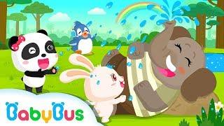 La Trompa del Señor Elefante Hace Lluvia | Canciones Infantiles | Canción de Animales | BabyBus