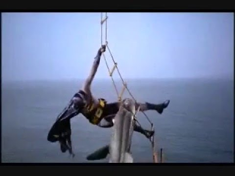 1966 Batman Movie Dramatic Shark Scene INTENSE