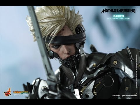 "Rising Revengeance Raiden 1//6 Action Figure 12/"" Hot Toys VGM17 METAL GEAR"