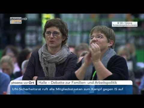 Bundesdelegiertenkonferenz B'90/Grüne: Debatte zur Familien- und Arbeitspolitik am 21.11.2015