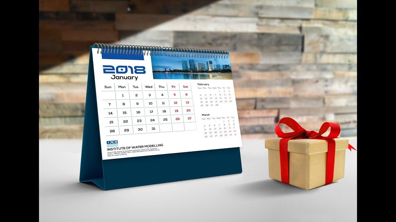 How To Create a Desk Calendar in Adobe Illustrator 2018