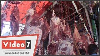 """بالفيديو..شاهد أسعار """"اللحم الجملى"""" بالسوق المصرى ..وبائع:"""" الدولار أثر على البيع"""""""