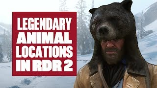Red Dead Redemption 2's legendary animal locations