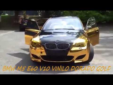 Bmw M5 E60 Dorado Gold Vinil Youtube