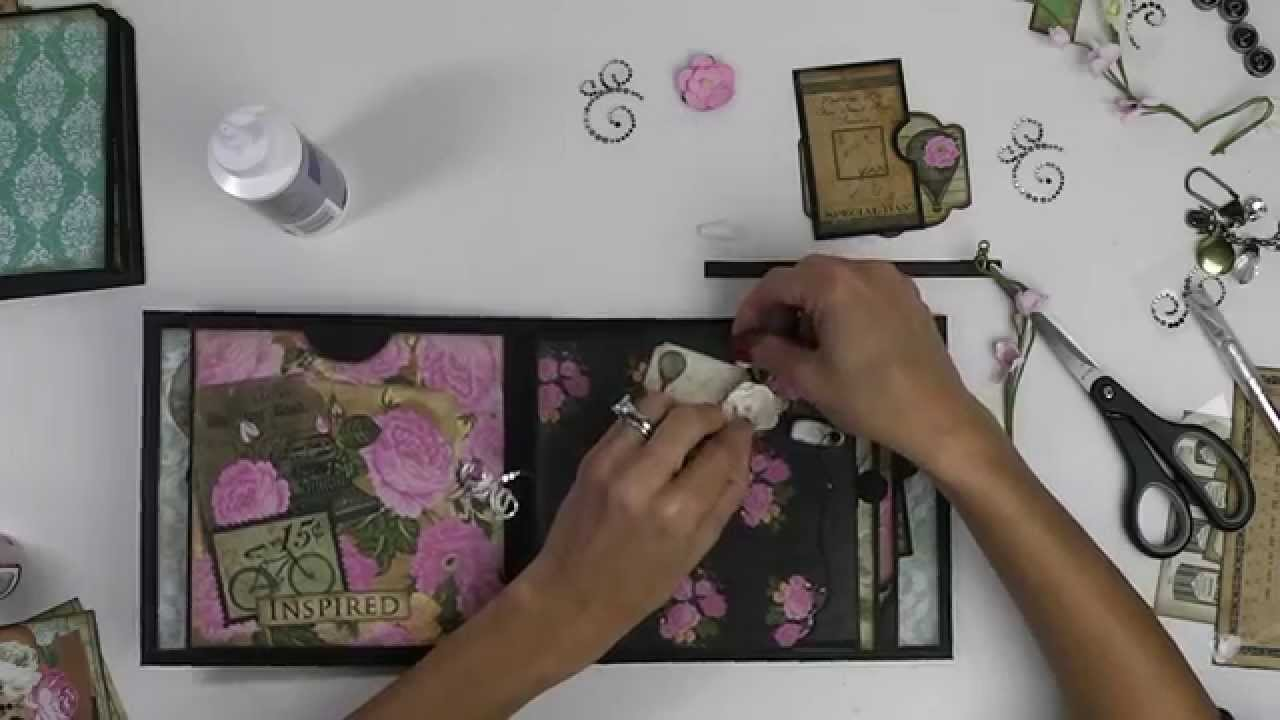 How to make a romantic scrapbook - Making The Romance Novel Mini Album Part 2 Walk Through Tutorial Of The Inside Pages Youtube
