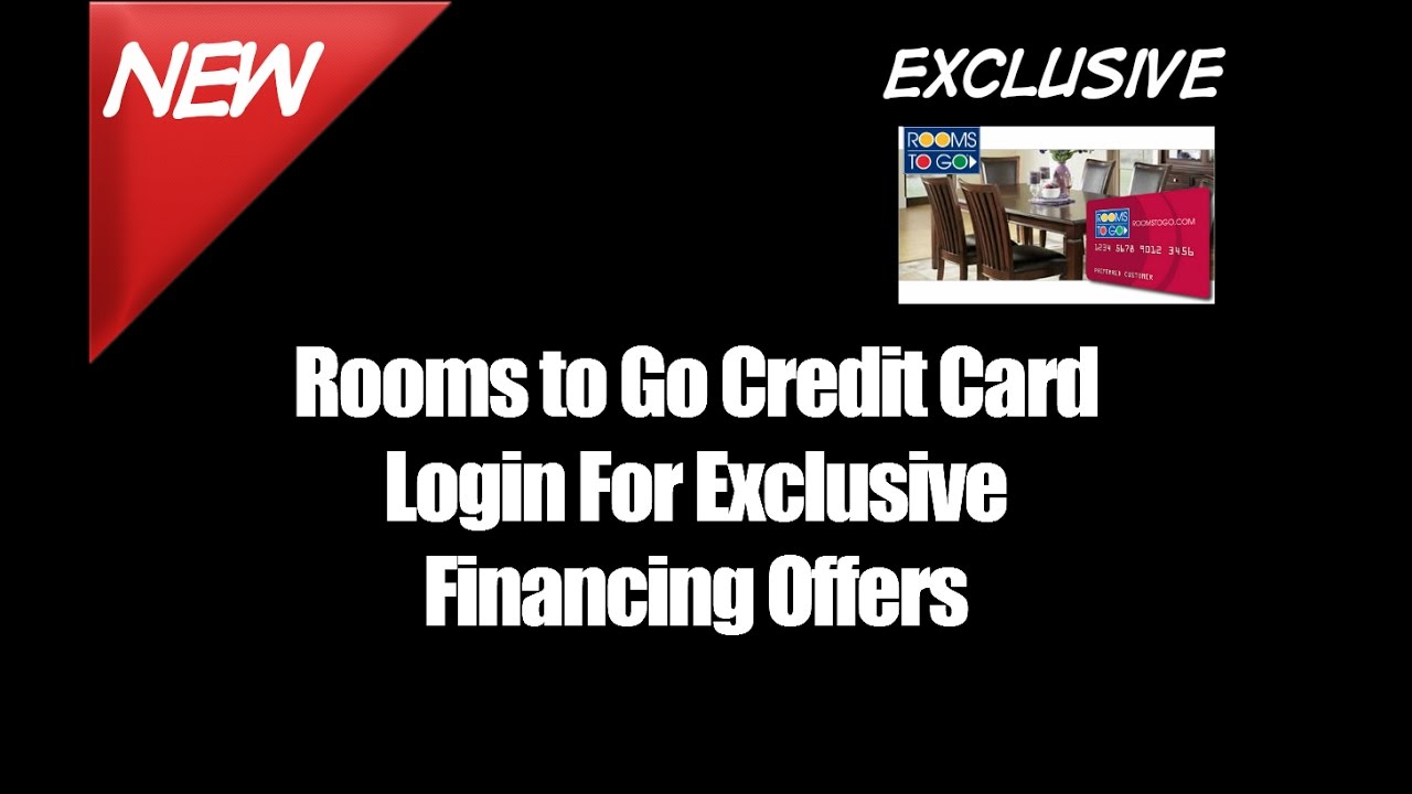 Rooms to Go Credit Card Login For Exclusive Financing Offers - YouTube