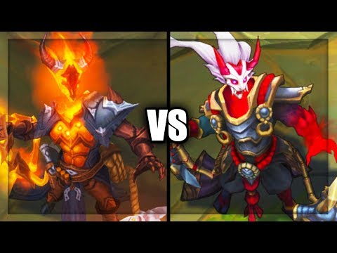 High Noon Thresh vs Blood Moon Thresh Skins Comparison (League of Legends)