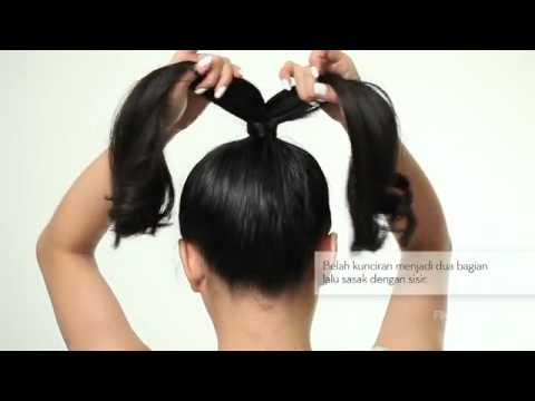 Beauty Video Step By Step Sanggul Bentuk Pita Ala Lady Gaga Youtube