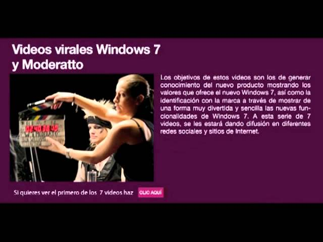 Campaña Windows 7 y Moderatto