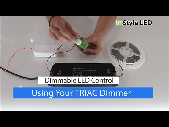 How to set up / use your LED strip light TRIAC Transformer & Dimmer