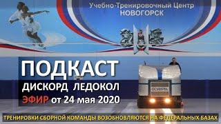 Тренировки сборной команды России возобновляются на федеральных базах