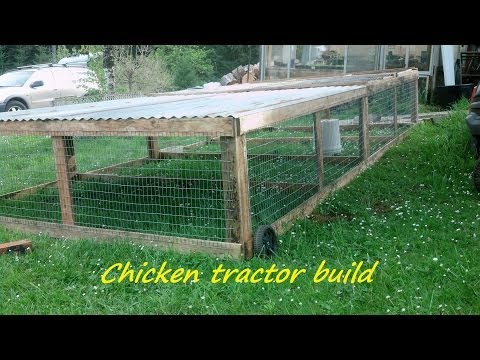 How to build a portable chicken tractor coop....Part 1