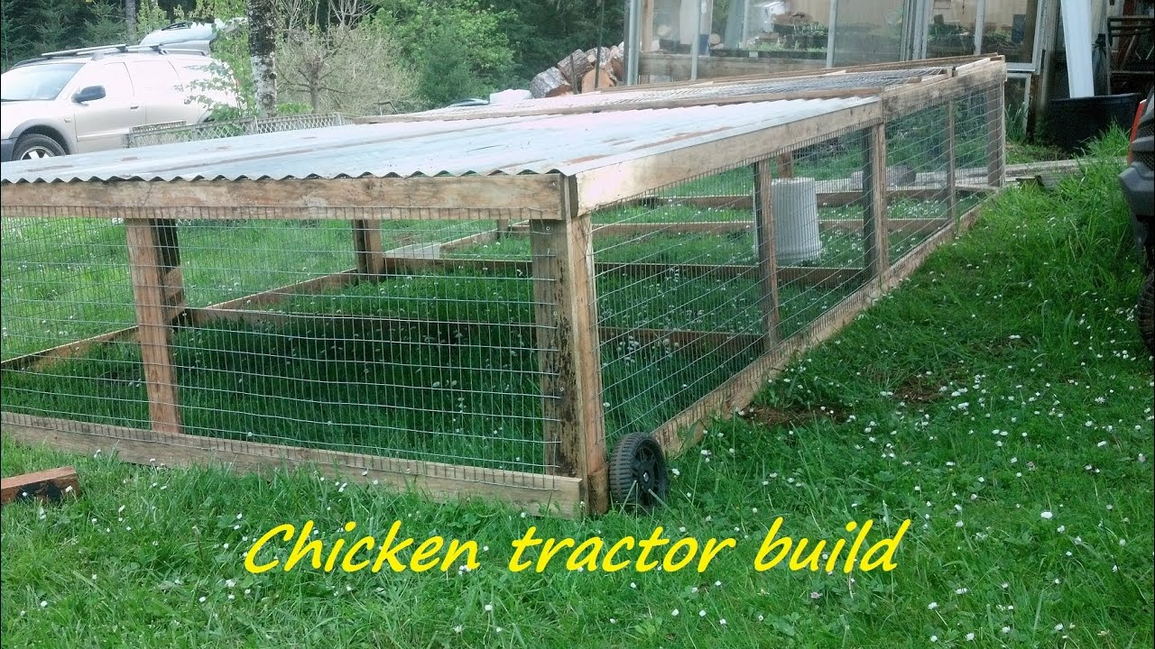 How To Build A Portable Chicken Tractor Coop Part 1