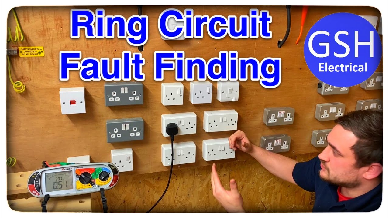 How To Find A Fault On A Ring Final Circuit Sockets Help For Am2 Am2s Testing And Fault Finding Youtube