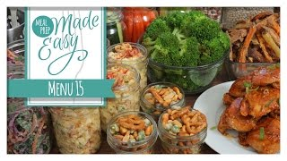 Download Mp3 *new* Healthy Meal Prep Menu 15 | Baked Beans, Buffalo Chicken, Crunchy Kale Sla