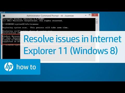 Resolving Issues in Internet Explorer 11 (Windows 8)