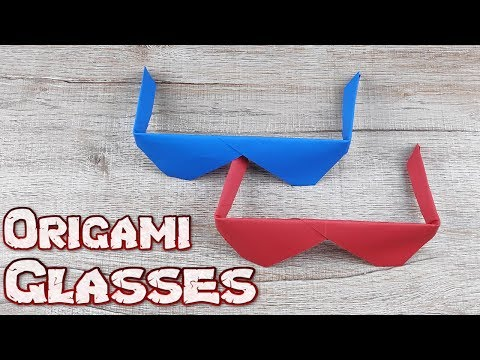 How To Make A Simple Glasses Model Tutorial | Easy Origami Paper Folding Glasses | DIY Paper Crafts