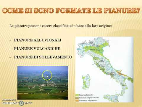 Cartina Italia Pianure.Pianure In Italia Classe Quarta Scuola Primaria Youtube
