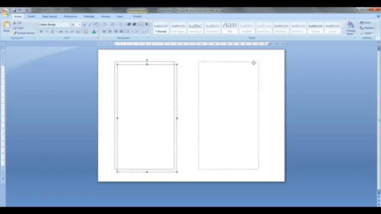 how to create personal size templates for filofax etc in ms word