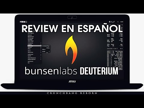 "Review Bunsenlabs ""Deuterium"" Español 2017"