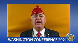 Commander Oxford welcomes Legion members to Virtual Washington Conference