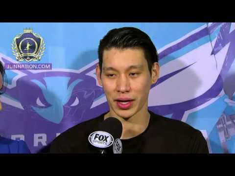 Jermey Lin post game interview with Stephanie - Hornets vs Rockets ...