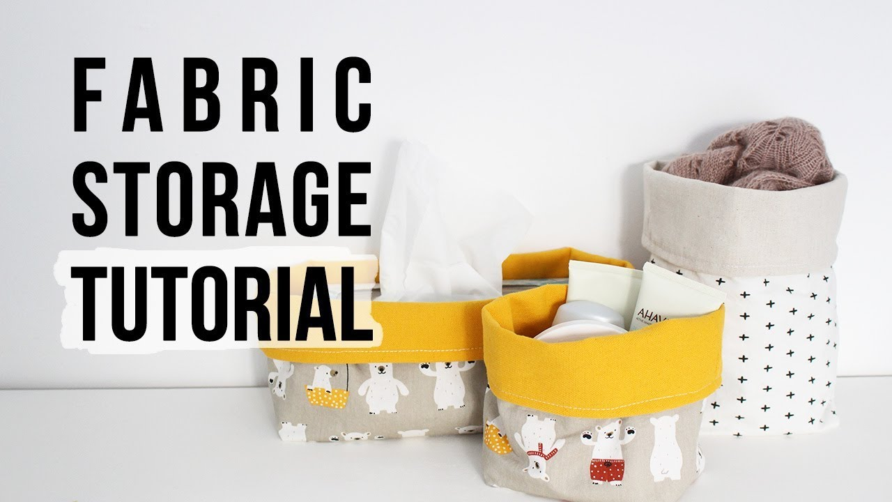 How To Make Fabric Storage Bins | Sewing Tutorial