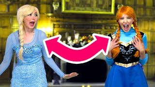 ANNA AND ELSA SWITCH PLACES ON FRIDAY THE 13TH. (Totally TV Character Video)