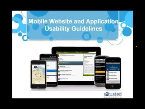 Mobile Website and Application Usability Guidelines