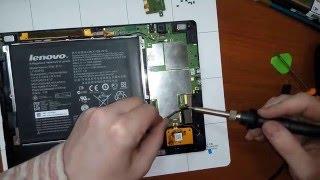 разборка и ремонт Lenovo ideatab S6000 замена micro USB  входа зарядки