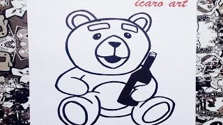 Como dibujar al oso ted | how to draw ted