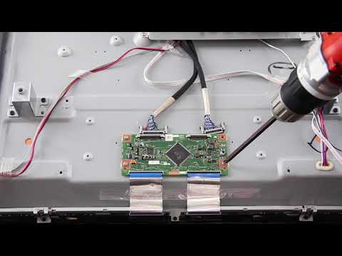 """Element 60"""" LED TV T-Con Board Replacement Tutorial RUNTK5489TPZJ"""
