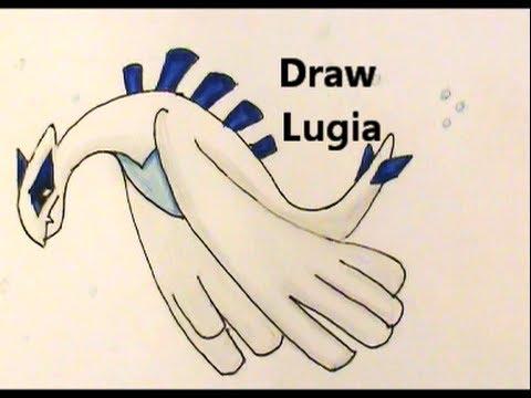 Draw lugia legendary pokemon no 249 tutorial
