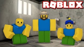 TRAPPED IN THE PRISON in ROBLOX JAILBREAK (Noob family roleplay)