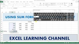 Sum Shortcut Key in Excel