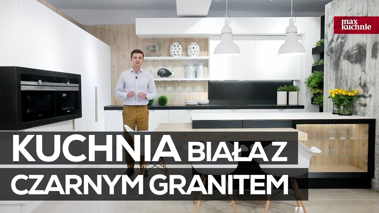 Kuchnia Biała Z Czarnym Granitem Studio Max Kuchnie Vigo Bielsko Biała