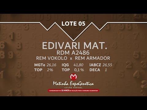 LOTE 05 MATINHA EXPOGENÉTICA 2021