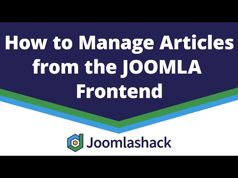 How To Manage Articles From The Joomla Frontend