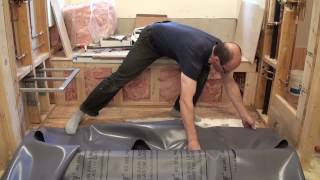 How to install a Shower Pan Liner and HardieBacker Board. Bathroom Remodeling. Part 15.