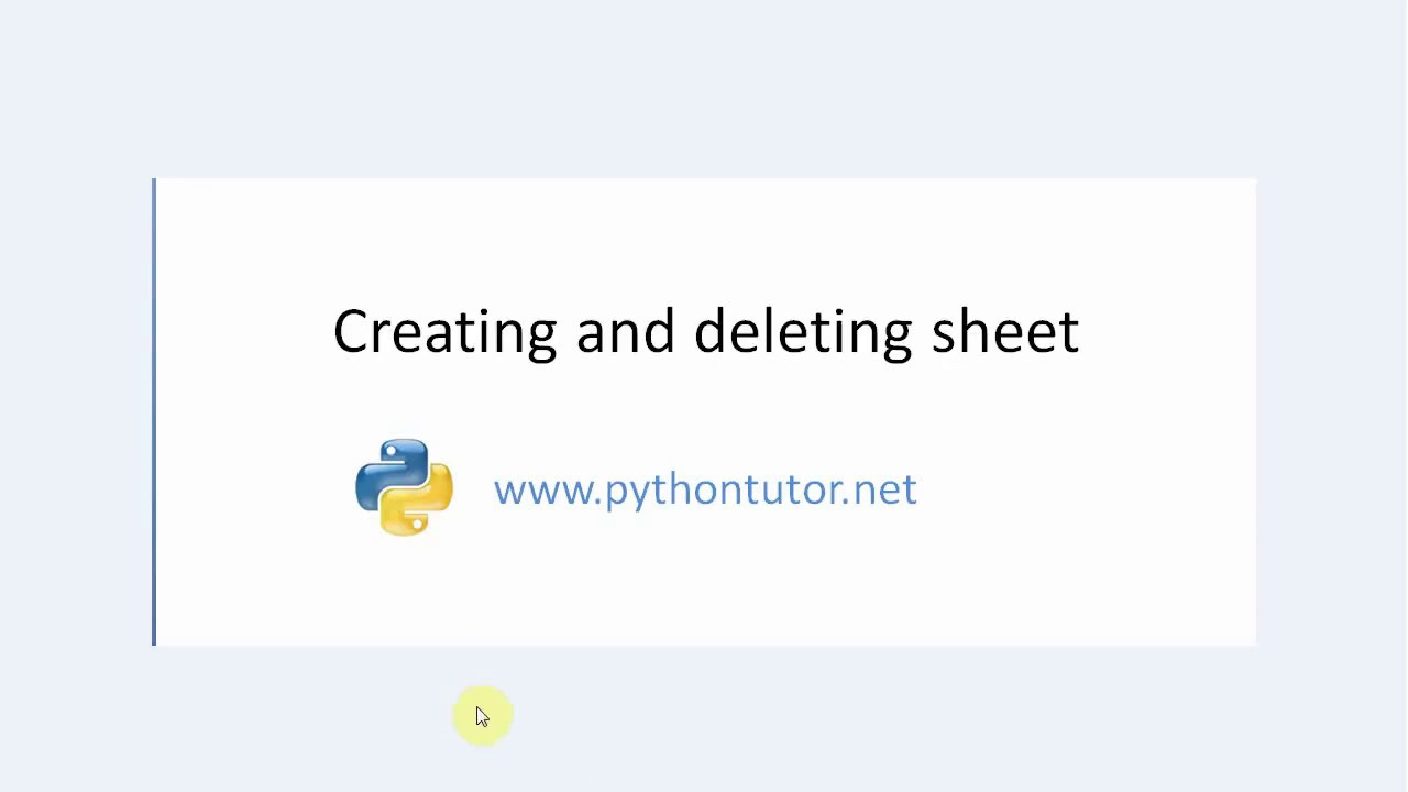 Python - create and delete an Excel sheet in openpyxl