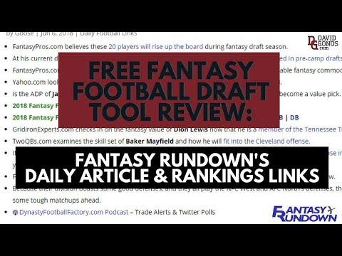 Top 51 FREE Fantasy Football Draft Tools Winners Use 2017