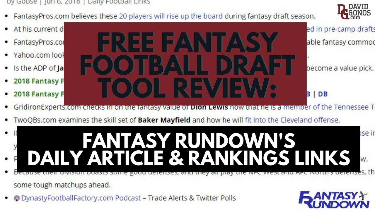 67 Great Free Fantasy Baseball Draft Tools You Must Bookmark