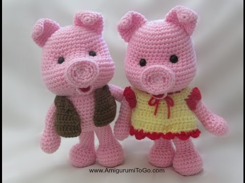 Crochet Along Dress Up Pig - YouTube