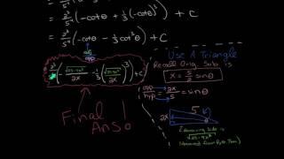 Calc II:  13 - Trigonometric Substitution
