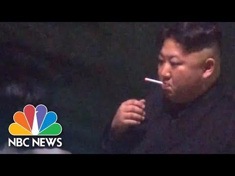 North Korea's Kim Jong Un Stops For A Smoke Break On Way To Hanoi Summit   NBC News
