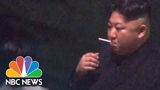 Download Video North Korea's Kim Jong Un Stops For A Smoke Break On Way To Hanoi Summit | NBC News MP3 3GP MP4