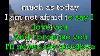 """""""THE PROMISE"""" I'll Never Say Goodbye Video Karaoke @in the style of Martin Nievera"""